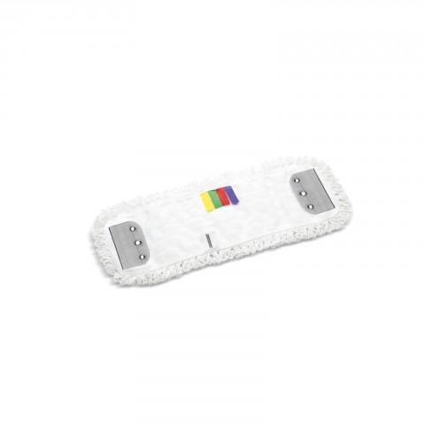 Mop mikrofibra 40cmx13cm biały zatrzaski