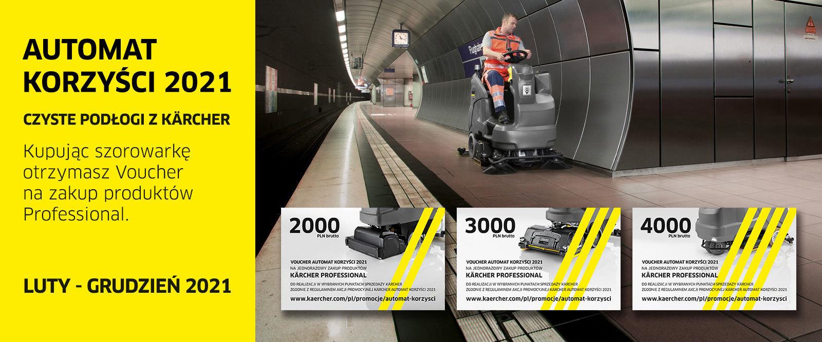 Baner akcji promocyjnej Karcher Automat korzyści 2021