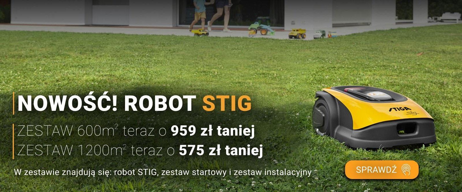 Nowe roboty koszące Stig