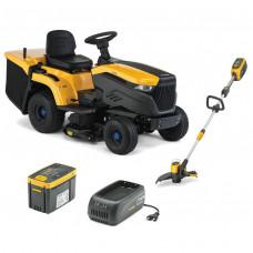 Zestaw promocyjny traktor akumulatorowy e-Ride C300