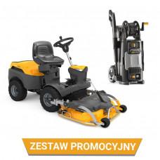 Zestaw: Traktor ogrodowy Park 340 PWX + Agregat Park 100 Combi 3 EL QF + myjka HPS 345 R