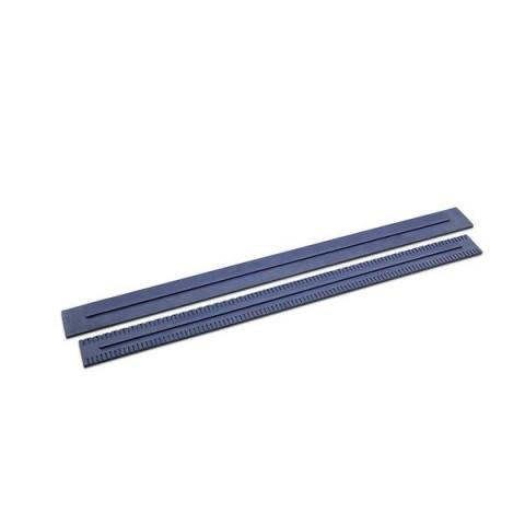 Listwy zbierające 890 mm, 2 szt, niebieskie