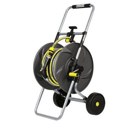 Metalowy wózek na wąż HT 80 M - zestaw