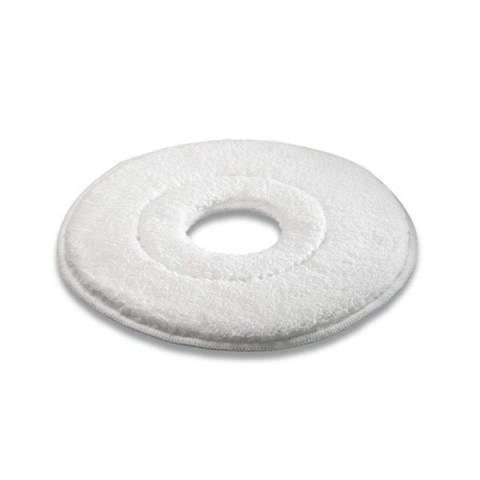 Pady z mikrofibry białe, 410 mm