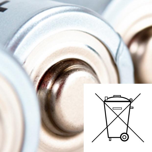 symbole utylizacji zużytych baterii